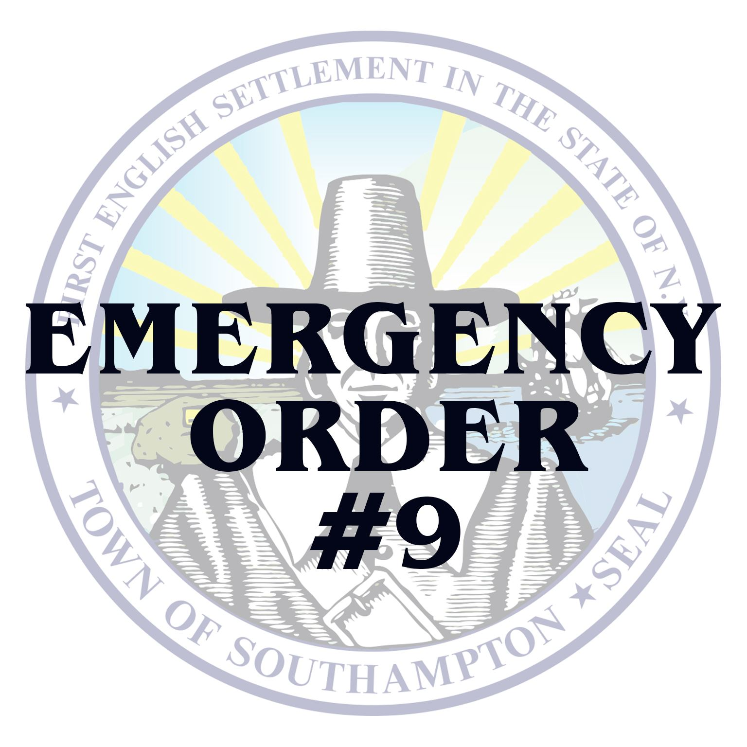Emergency Order  Order No 9