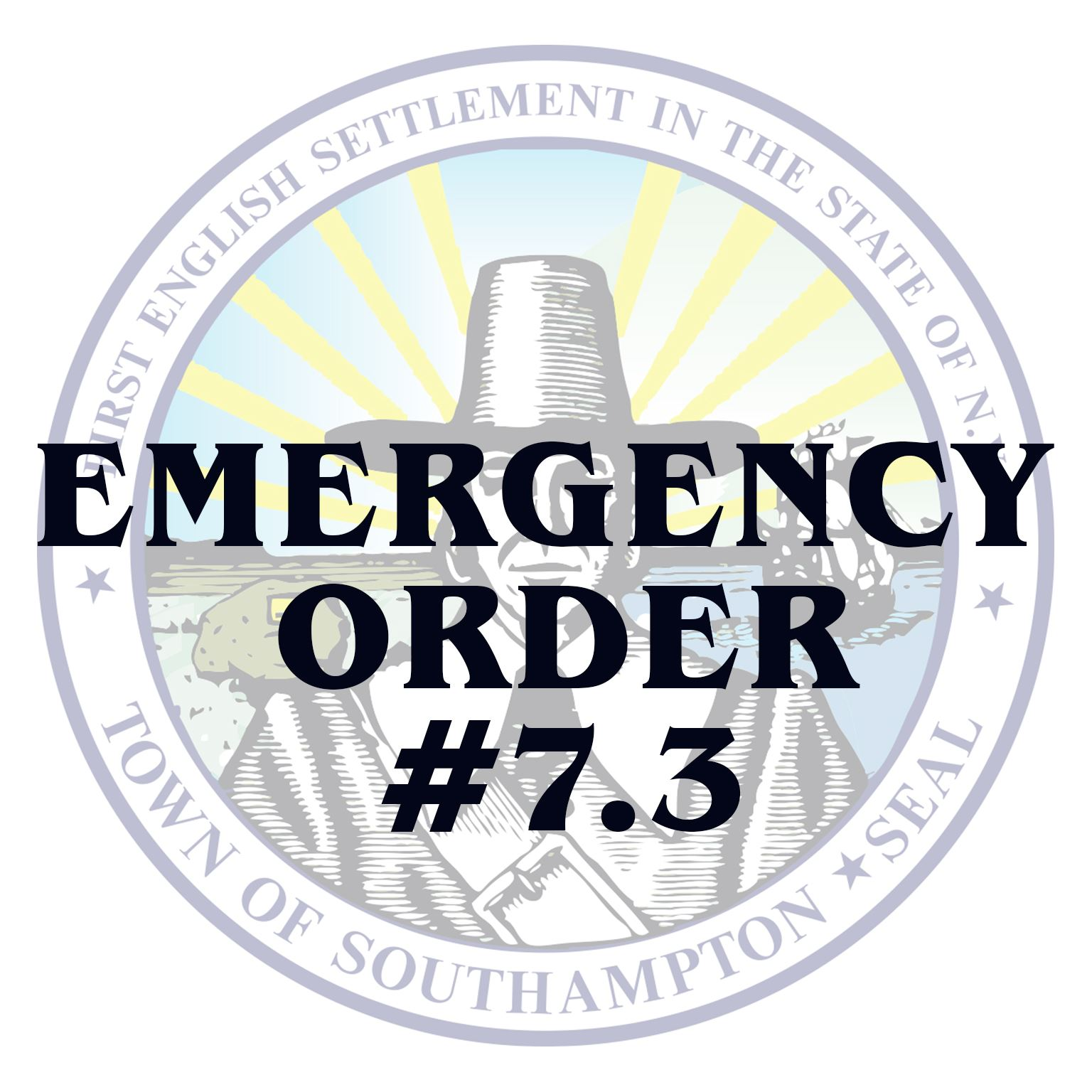 Emergency Order  Order No 7.3